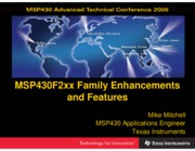 slap111 - MSP430F2xx Family Enhancements and Features
