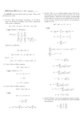 Exam 4 Study Guide Solution Winter 2008 on Ordinary Differential Equations