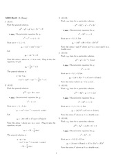 Homework 10 Solution Winter 2008 on Ordinary Differential Equations