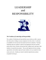 Lead & Responsibility Package