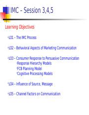 IMC - Session 3, 4, 5 - Developing a Theoretical Understanding of Marketing Communication.ppt
