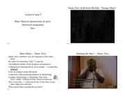 Music 26AC Music in American Culture: Lecture 8 - Blues Continued