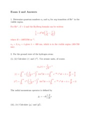 Solutions exam 2