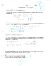 CHEM LAB 111 Quiz 3