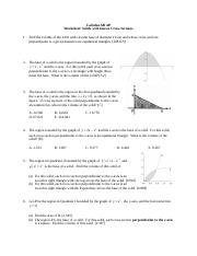Worksheet Solids with known cross sections [with answers]