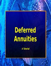 Deferred Annuities(1)