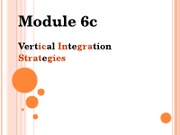 788, Module 6c, Vertical Integration, Sp2011