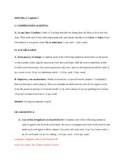 Spanish Chapter 7 Study Guide