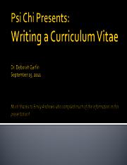 Writing a Curriculum Vitae copy.pdf