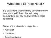 What does El Paso need,(el paso analysis)