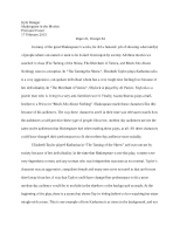 Shakespeare in the Movies Paper #1