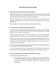 [Assignment] Operating and Financial Leverage.pdf