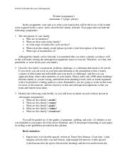 FACS 140 Written Assignment 1