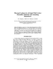 Thermal Conductivity of Single Wall Carbon