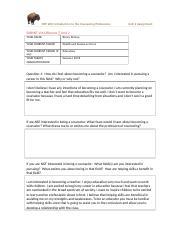 CEP 200 - Unit 2 Self-Reflection Assignment - .docx