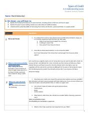 Copy of PF4: Intro to Loans - Student Activity Packet 3.4