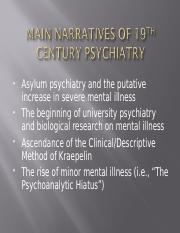 The first biological psychiatry PSYC 4039