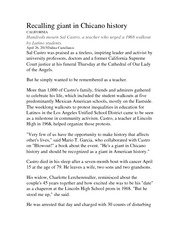 latino immigrant student oral history project latino immigrant  3 pages essay on sal castro