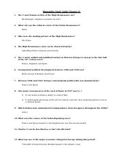 Humanities Study Guide Chapter 13