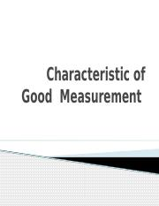 Characteristic of Good  Measurement.pptx