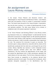 An_assignment_on_Laura_Mulvey_essays.docx