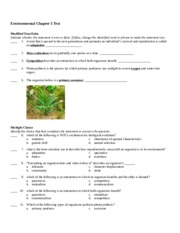 Environmental Test Chapter 5