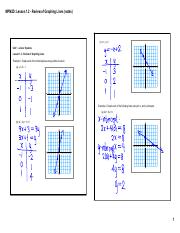 02 - Lesson 1.2 - Review of Graphing Lines (notes).pdf
