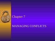 Chapter 7  Managing Conflicts