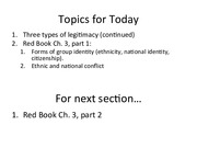 Lecture 5 Slides(Ethnicity and Nationalism)