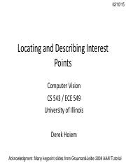 Lecture 07 - Interest Points - Vision_Spring2015.pdf