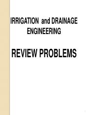 Irrigation and Drainage_Review Problems.pdf