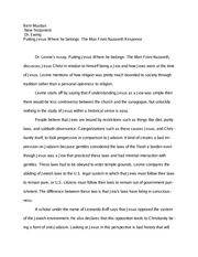 New Testament Essay 1