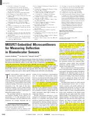 MOSFET-embedded microcantilevers for Measuring Deflection in Biomolecular Sensors.pdf