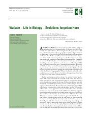 Wallace – Life in Biology – Evolutions forgotten Hero.pdf