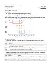 Algebra 1 Unit 13 Journal 13.3.4......docx