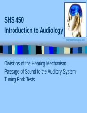 2_Introduction to Audiology_Pathways of Sound and Tuning Fork Tests _Post