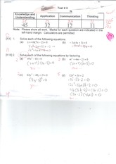 MPM 2DE quadratic relations test