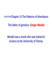 14-Mendel and the Gene Idea.ppt