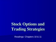 Lecture 6 Stock_Options and Trading Strategies