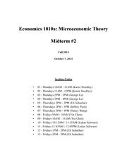 ECON1010a Fall 2014 Midterm 2