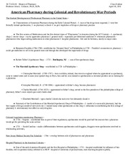 History of Pharmacy - Class Outline - April 19, 2011
