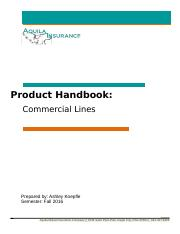 Product Handbook for Commercial Lines Koepfle