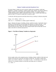 Econometrics Dummy Variable and Joint Hypothesis Notes