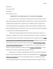 World History 2, Part 3 Essay Page