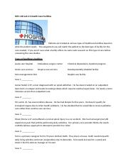 M3 Lab Health Care Facilities.docx