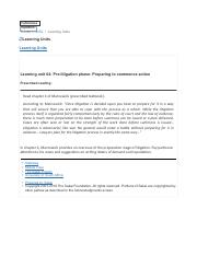 Learning unit 04- Pre-litigation phase- Preparing to commence action.pdf