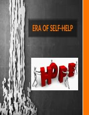 ERA OF SELF HELP