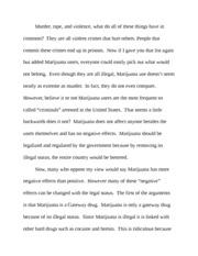 marijuana outline samantha reese public speaking legalization of 6 pages marijuana speech
