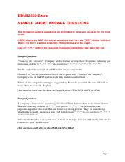 3. EBUS2000 sample short answer questions