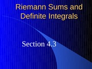 Riemann Sums and Definite IntegralsB